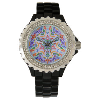 Crystal symmetri (Rhinestoneklockan) Armbandsur