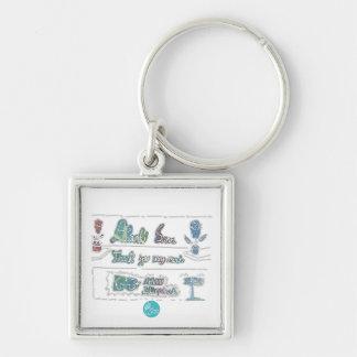 Ctc-internationell - tack fyrkantig silverfärgad nyckelring