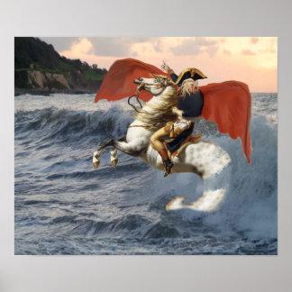 Cthulhu Bonaparte på beach.en Poster