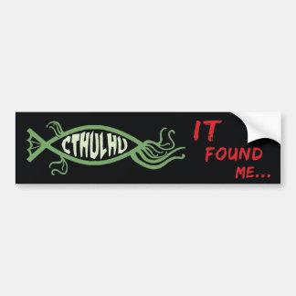 Cthulhu fiskbildekal - Lovecraft Bildekal