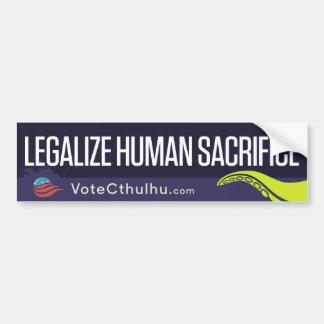 Cthulhu för legaliseraa människaoffer för bildekal