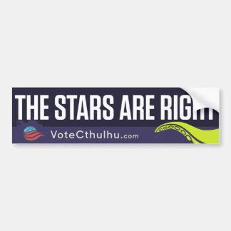 Cthulhu för president 2016 stjärnorna är höger bildekal