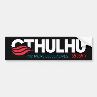 Cthulhu för president 2020 inte mer Lesser ondska Bildekal