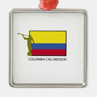 CTR för Colombia Cali beskickning LDS Julgransprydnad Metall
