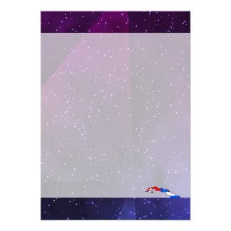 cuba flaggakarta på abstrakt utrymmebakgrund 12,7 x 17,8 cm inbjudningskort
