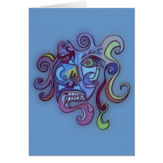 cubism hälsningskort