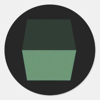 Cubism Runt Klistermärke
