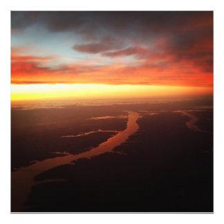 Cumberland River solnedgång Fotografiska Tryck