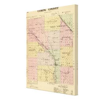 Cuming County Nebraska Canvastryck