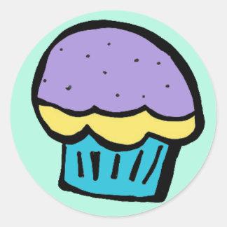 cupcake blue purple sticker