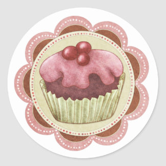 Cupcake Sticker Ideal For Jam Or Home Made Items