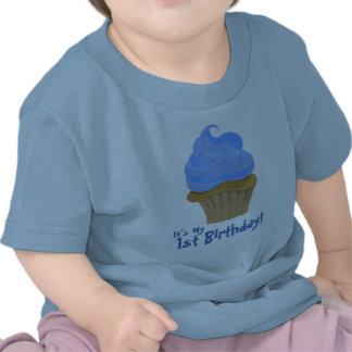 CupcakeBlue är det mitt, den 1st födelsedagen! T-shirt