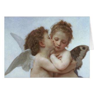 Cupid och psyken som barn hälsningskort
