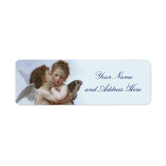 Cupid- och psykereturadressetikett returadress etikett