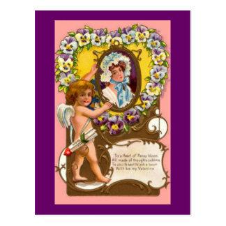 Cupidvintagevalentin vykort vykort