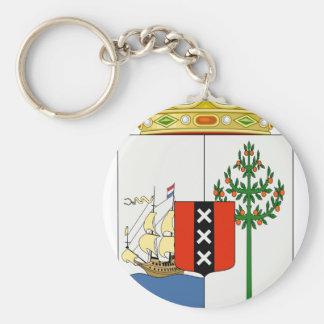 Curacao vapensköld rund nyckelring