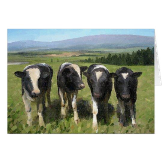 Curious cows hälsningskort