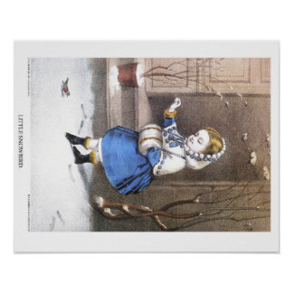 Currier & Ives Lithograph: Lite Snowbird Poster