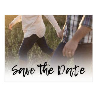 Cursive spara för fotobröllopinbjudningar | vykort