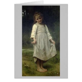 Curtseyen - William-Adolphen Bouguereau Hälsningskort