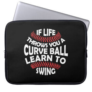 Curveballen för baseballlivkast lärer gunga laptop fodral