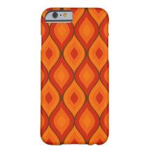 Curvy oval geometrisk   livlig orange barely there iPhone 6 skal