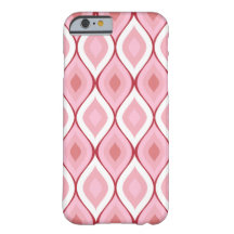 Curvy oval geometrisk   rosa vit barely there iPhone 6 skal