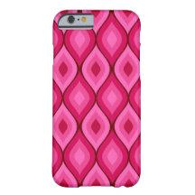 Curvy ovala geometriska   shock rosa barely there iPhone 6 skal