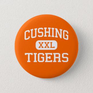 Cushing - tigrar - högstadium - Cushing Oklahoma Standard Knapp Rund 5.7 Cm