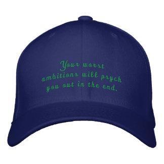 Cust5om broderad Psych hatt