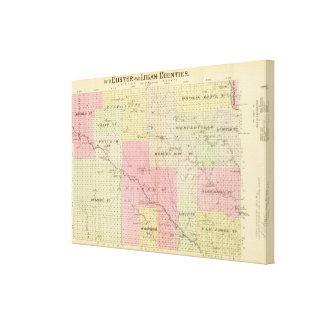 Custer och Logan County, Nebraska Canvastryck