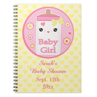 Custom Kawaii Baby Shower Guest Book Notebook Anteckningsbok