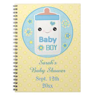 Custom Kawaii Baby Shower Guest Book Notebook Spiral Anteckningsbok