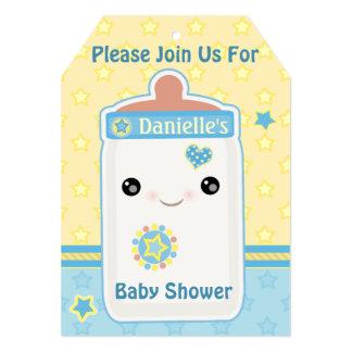 Custom Kawaii Bottle Baby Boy Shower Invitations 12,7 X 17,8 Cm Inbjudningskort