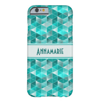 Customisable Aquamarinetriangelmönster Barely There iPhone 6 Skal