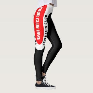 Customisable version 1 för friidrottklubbdamasker leggings