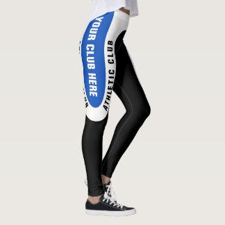Customisable version 3 för friidrottklubbdamasker leggings