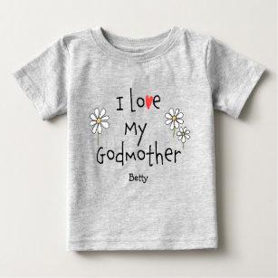 Cute Trendig I kärlek Min gudmor Baby Tee