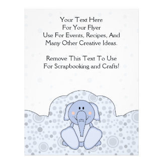 Cutelyn baby blue elefant flygblad designs