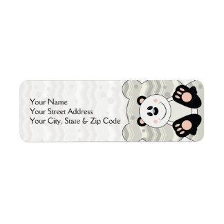 Cutelyn Pandabjörn Returadress Etikett