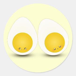 Cutie ägg runt klistermärke