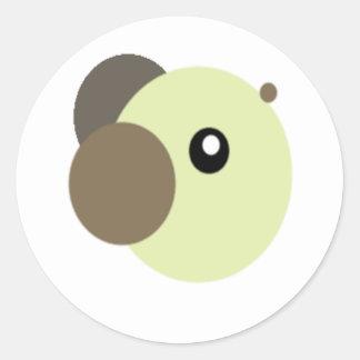 Cutie björnklistermärkear runt klistermärke