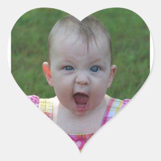 Cutie Hjärtformat Klistermärke