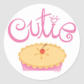 Cutie pajklistermärke runt klistermärke