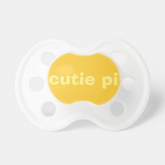 cutie pi uttrycker binky - gult & guld napp
