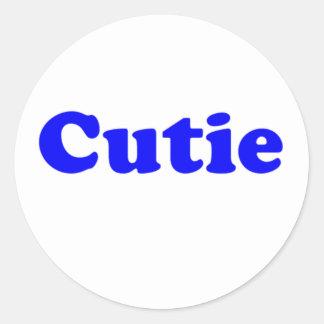 cutie runt klistermärke