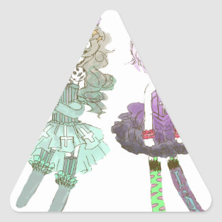 cuties triangelformat klistermärke
