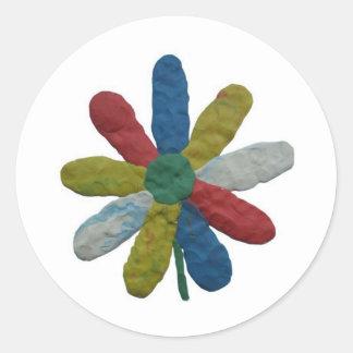cvetokkvadrat runt klistermärke