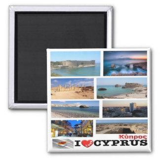 CY - Cypern - jag älskar Collagemosaiken Magnet