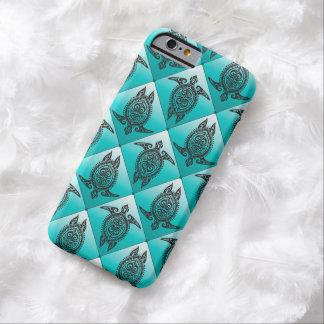 Cyan mönster för Shamanic havssköldpaddor - Barely There iPhone 6 Skal